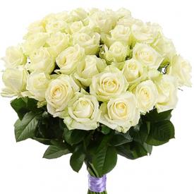 35 роз белые (60см)