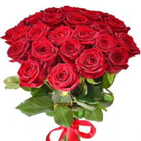 25 роз красные