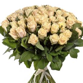 51 роза кремовая (60см)