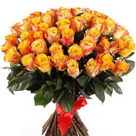 51 роза оранжевая (40см)
