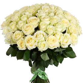 51 роза белая (60см)