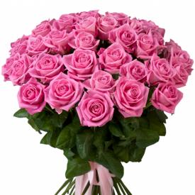 35 роз розовые (60см)