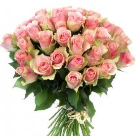 51 роза розовая (40см)