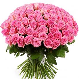 101 розa розовая (60см)