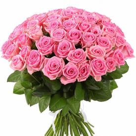 51 роза розовая (60см)