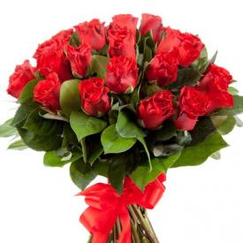 25 роз красные (40см)