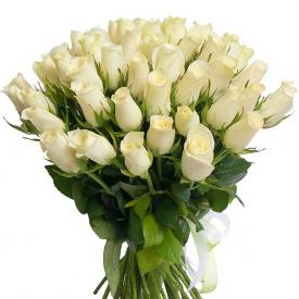 51 роза белая (40см)