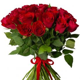 35 роз красные (40см)