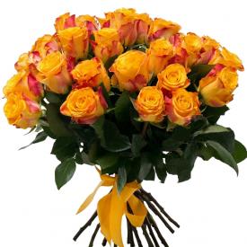 35 роз оранжевые (40см)